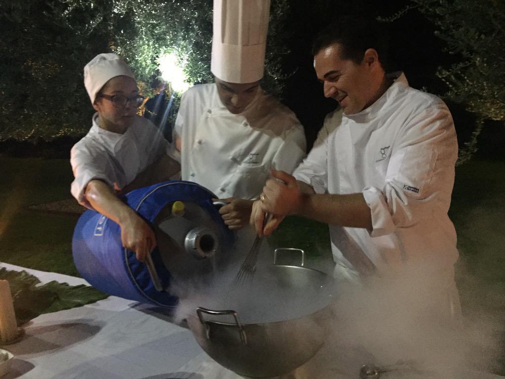 Liquid nitrogen mulberry #granita #sicilianfood @Radicepura @DONNACARMELA1 @PianteFaro @ChelseaFringe #angs15