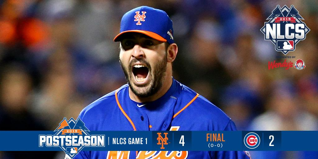It's over! We take Game 1 of the NLCS, 4-2. #LoveTheMets #LGM #Mets #Books #YaGottaBelieve