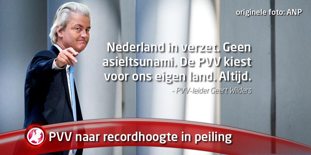 PVV stijgt in peiling naar 37 zetels, kiezer vertrouwt @geertwilderspvv meer dan Rutte: http://t.co/vLNxL8Fafo http://t.co/lDsYI4u7XC