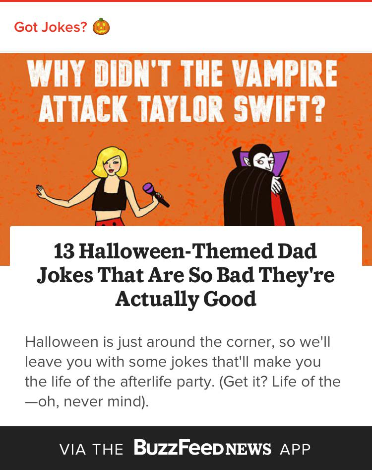 13 Halloween Themed Dad Jokes That Are So Bad Theyre Actually Good