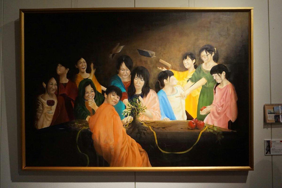 【第2位】La per sempre(永遠) 題名の「La per semple」はイタリア語で永遠という意味です。2年生の修学旅行でイタリアを訪れてから古典絵画の魅力にすっかり取り