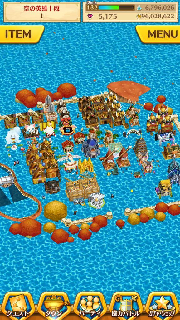 【白猫】タウンを水没させるバグ技が発見され話題に!キャラが海水浴してるみたいで可愛いwwww【画像あり】