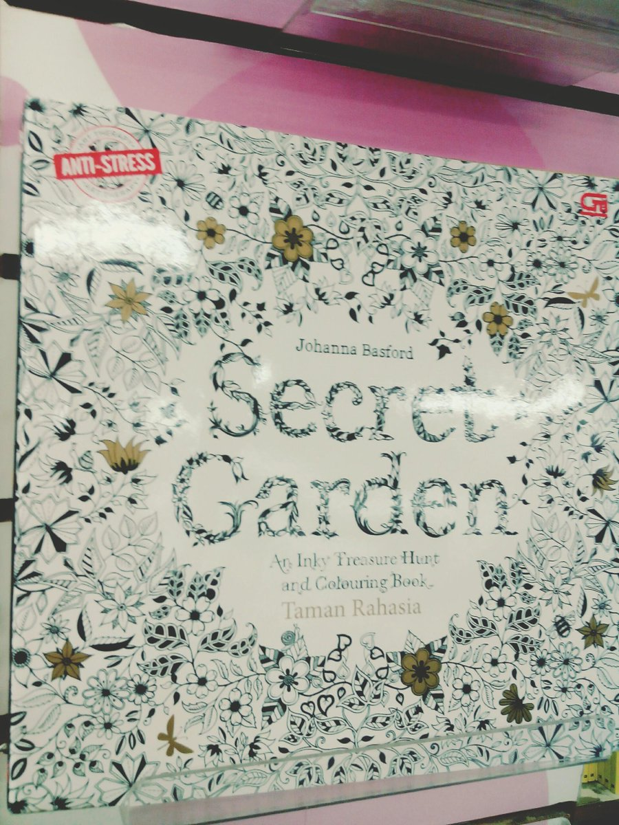 Gramedia Samarinda On Twitter Coloring Book SECRET GARDEN An Inky Treasure Hunt And Colouring Tco U1i5vlZpDE