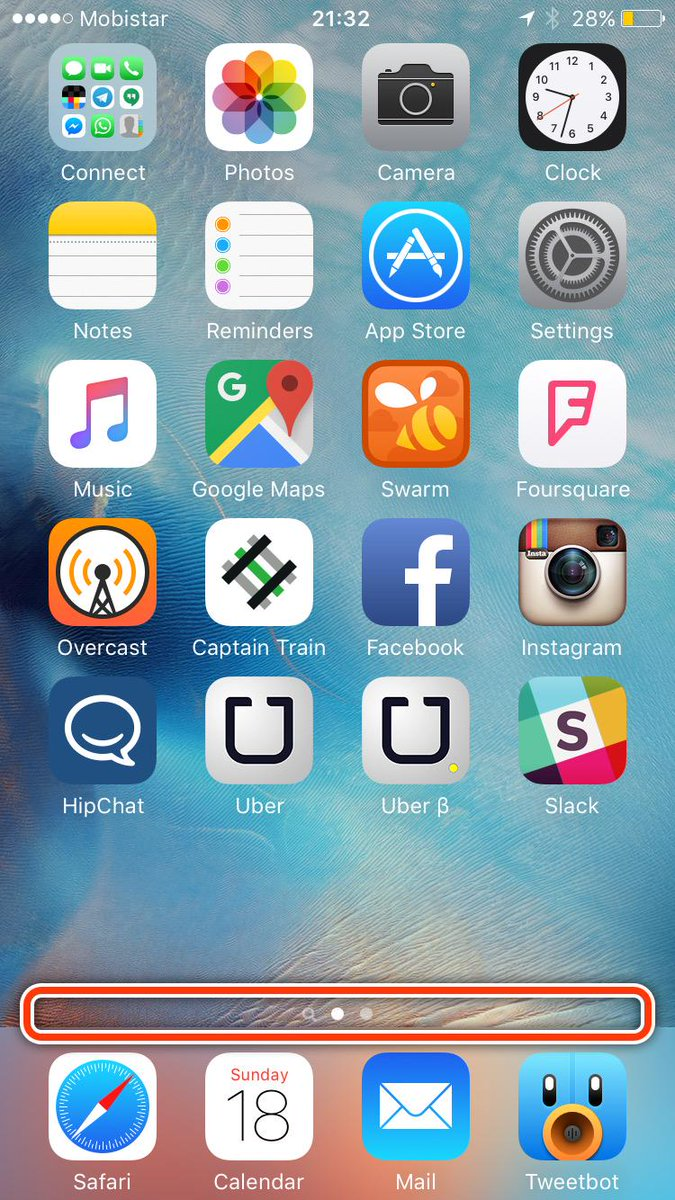 One of my favorite iOS things is that swiping is inverse in this area compared to the rest of the screen http://t.co/M6RoEmf6Bw