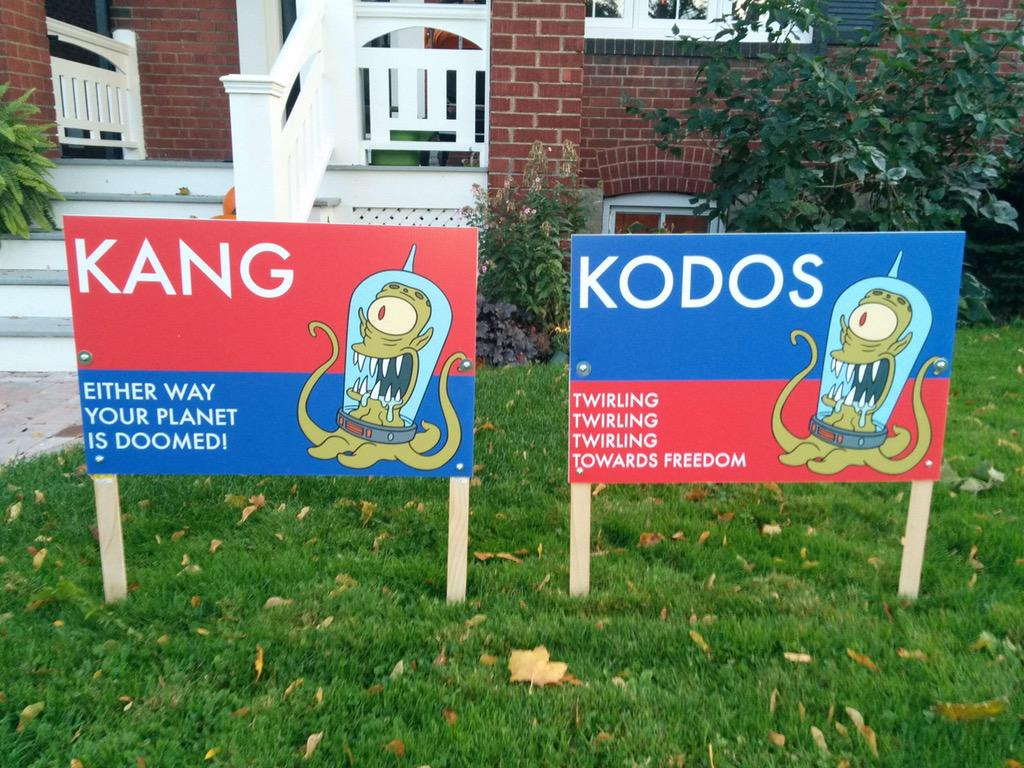 The only political yard signs you'll ever need. http://t.co/1EIxpjIqf6
