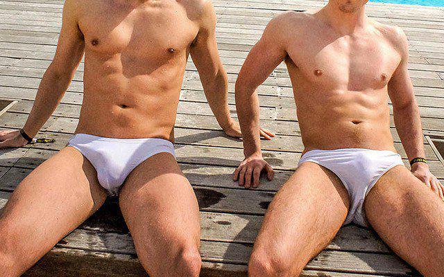 underwear Wet men white