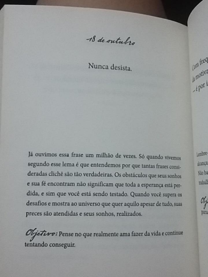 Frases Do Livro Nunca Desista Dos Seus Sonhos