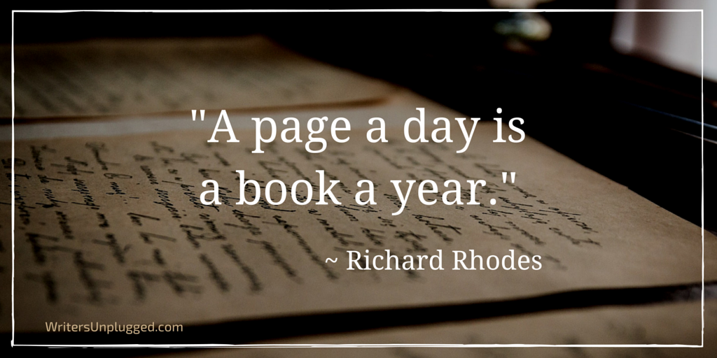"""A page a day is a book a year."" ~ Richard Rhodes https://t.co/zLLlyVW4jG  #amwriting #author https://t.co/WpuWfvCq2I"