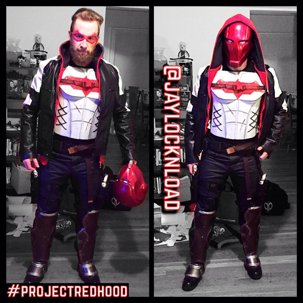 IT'S FINALLY FINISHED!!! #Cosplay #ProjectRedHood #ArkhamKnight http://t.co/ASNJfItU4I