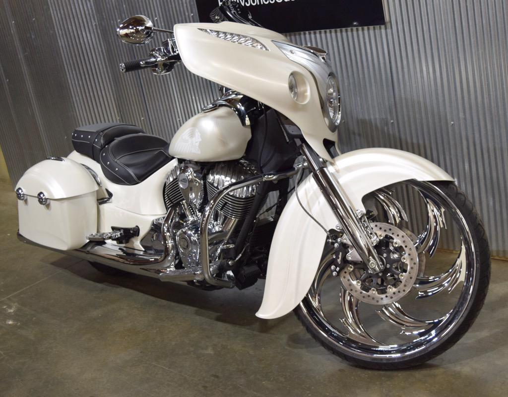 Custom Indian Motorcycles By Motorcycle On Quot A Big Wheel Bagger With The