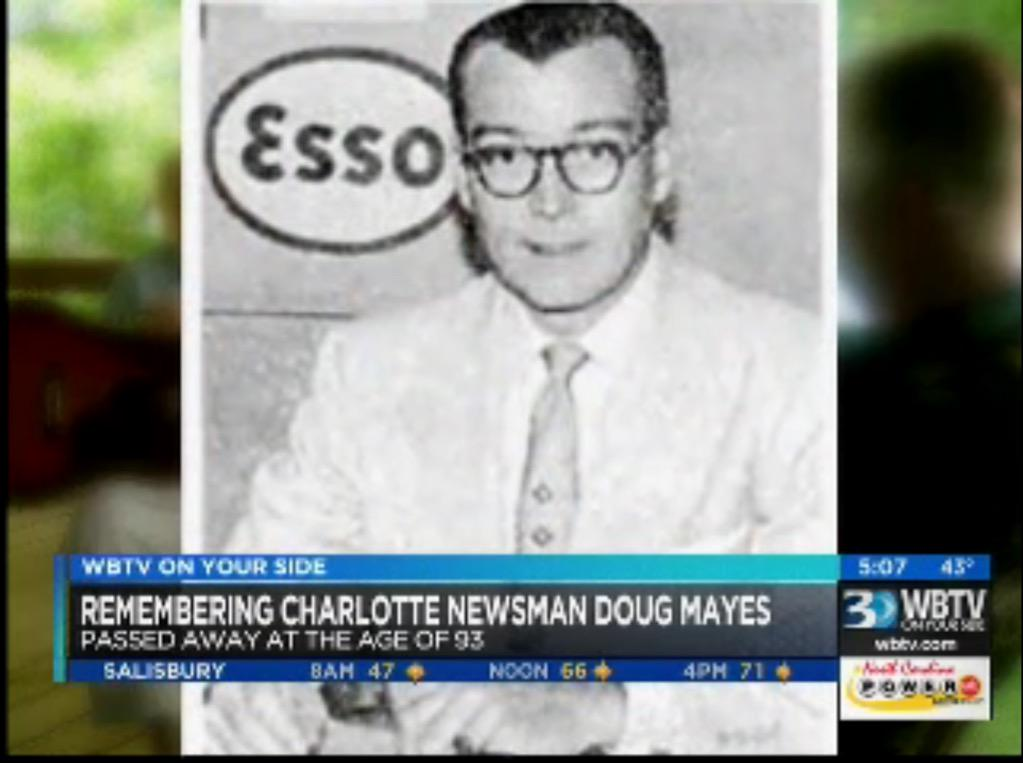 Remembering doug mayes, former wbtv anchor & pioneer of