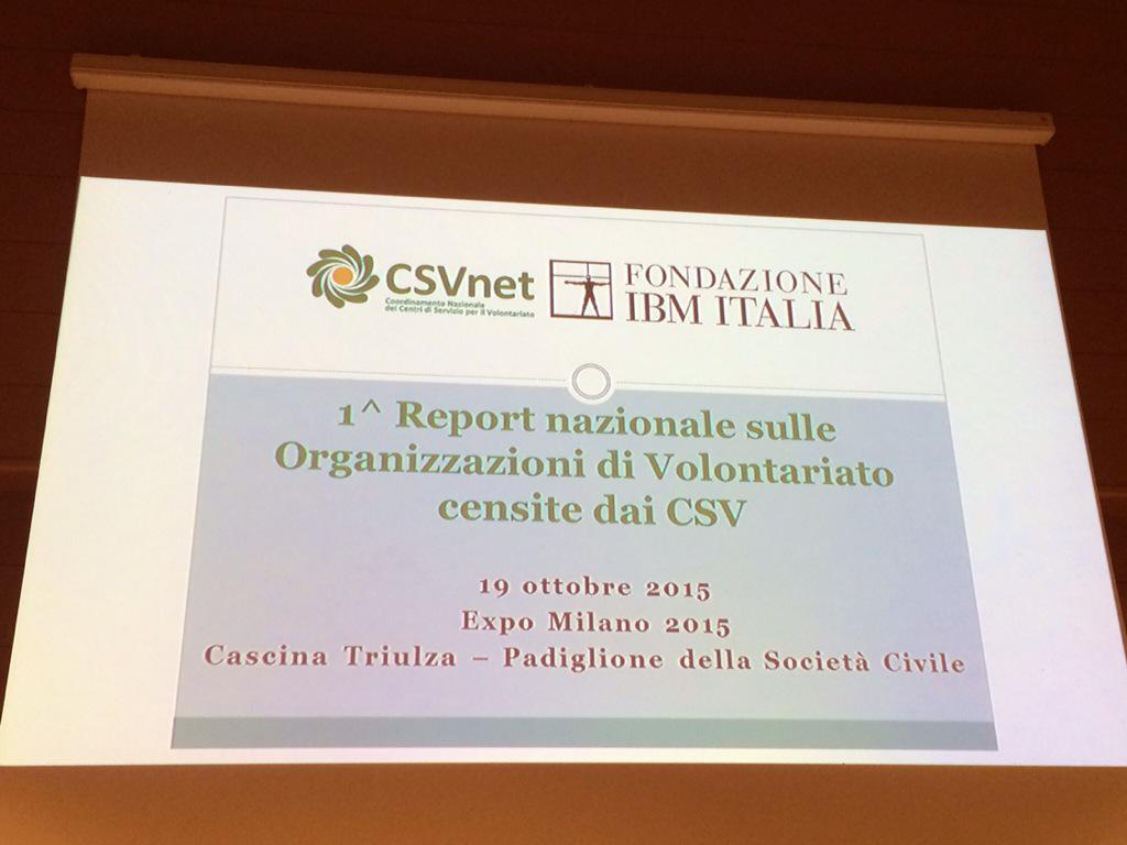 Tra poco la presentazione del report sulle organizzazioni di volontariato censite dal sistema dei CSV #odvreport http://t.co/Q5k9PFBVGI