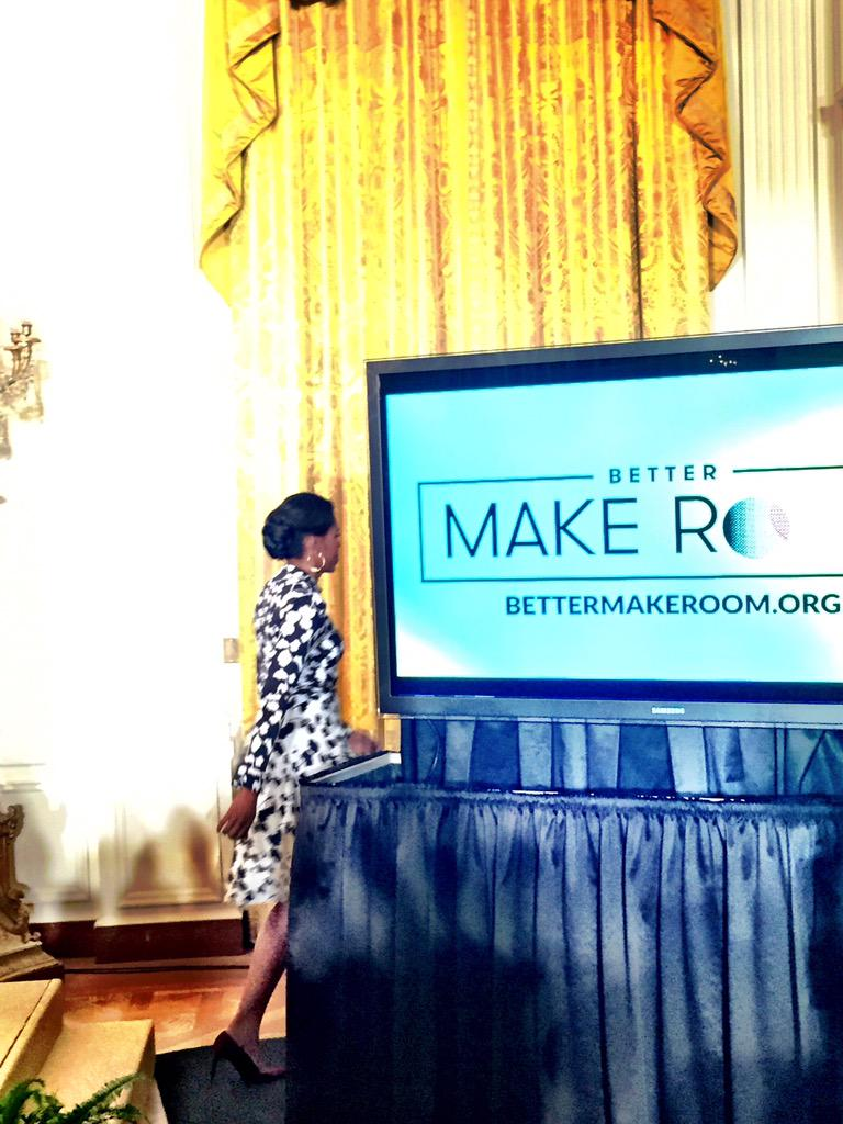 She announced #BetterMakeRoom like a boss, dropped the mic and left us all FIRED UP, READY TO GO. You go, @FLOTUS. https://t.co/gCu06fpzpM