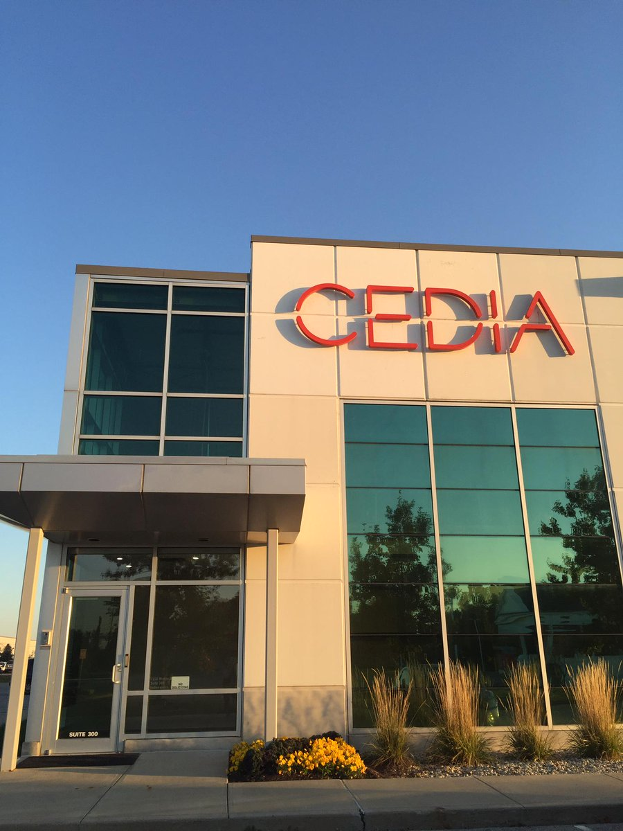 New logo on the CEDIA HQ building! Happy Monday #AVTweeps! http://t.co/p4b4jpo0Dg