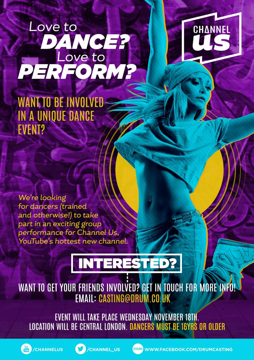 ATTENTION!!..Do u want2b apart of a unique dance event.-Check it out, get involved&spread the love. Thx #channelus http://t.co/V4CiNTWOUH