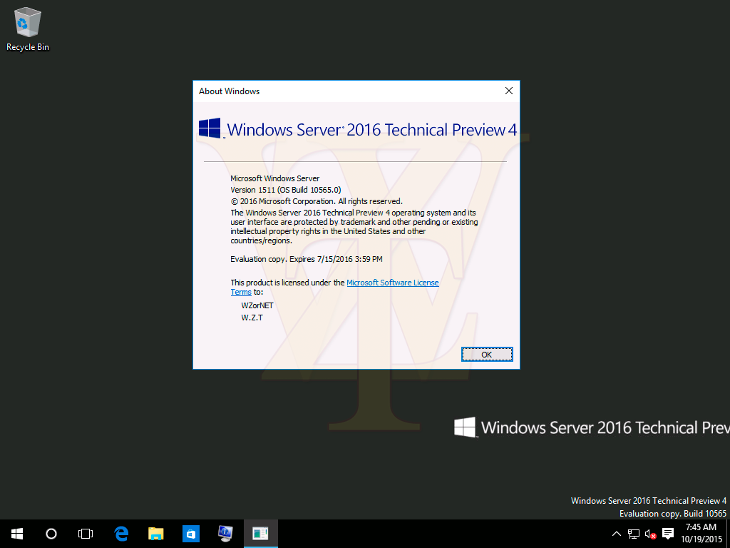 Windows Server 2016 Technical Preview 4 Build 10565