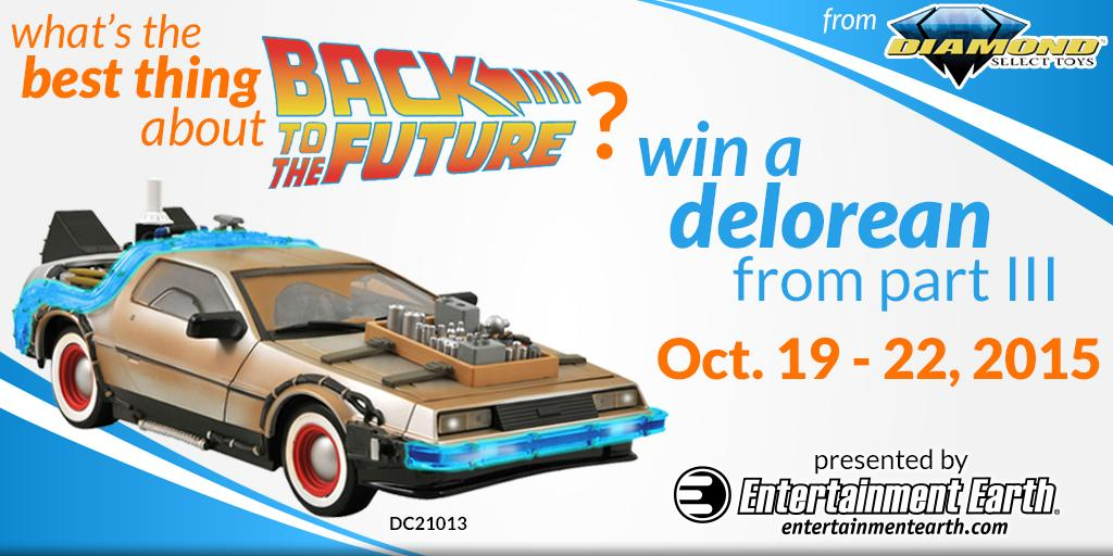Follow, RT, and tell us your favorite thing about #BTTF to win a DeLorean from Part III! #BTTF2015 http://t.co/z18AV531nU