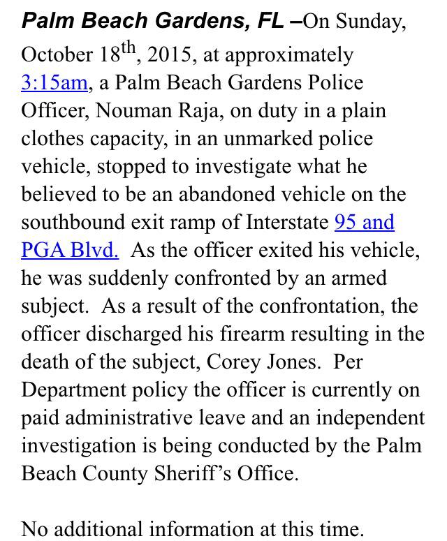 Palm Beach Gardens Police Contract