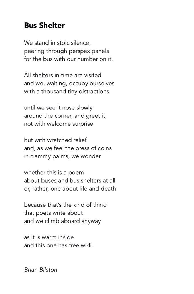waiting at the bus stop poem