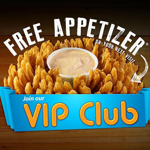 Texas roadhouse free appetizer sign up