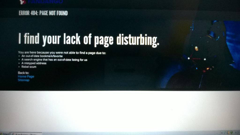 Big ups to Fandango for changing their error page for the evening. https://t.co/Lxht6iZGbu