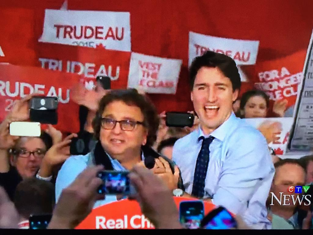 Proud to call @JustinTrudeau a friend. Congratulations, Prime Minister! #election2015 #elexn42 #ElectionCanada https://t.co/e52gZeo2dm