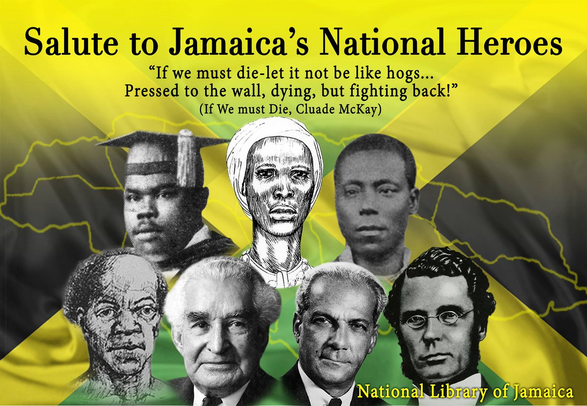 jamaica national heroes Jamaica national heroes 6 heroes and 1 heroine find this pin and more on caribbean and l ve it by chekellz happy heroes day jamaica by mizadrianna.