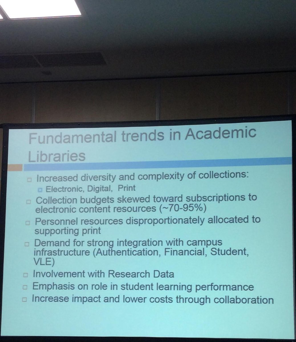 #ili2015 Fundamental trends in Academic Libraries @mbreeding  #B101 https://t.co/SMuVQtvLzZ