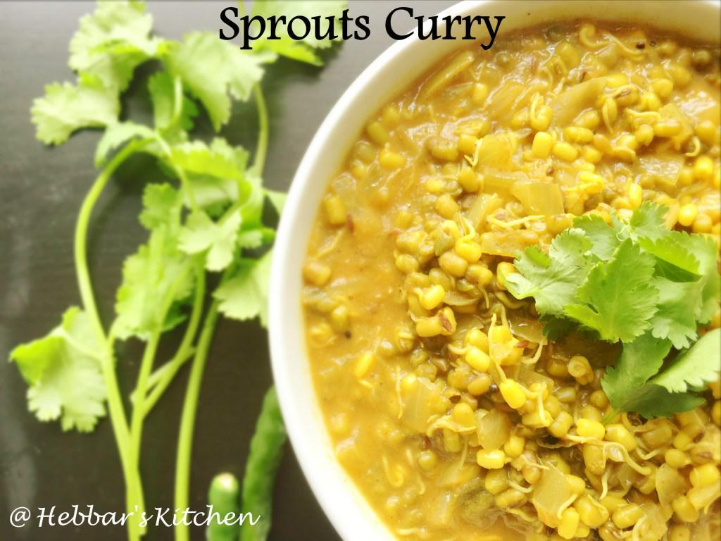 molake hesaru kaalu palya sprouts palya ankurit moong recipe sprouts curry recipe - Hebbar Kitchen