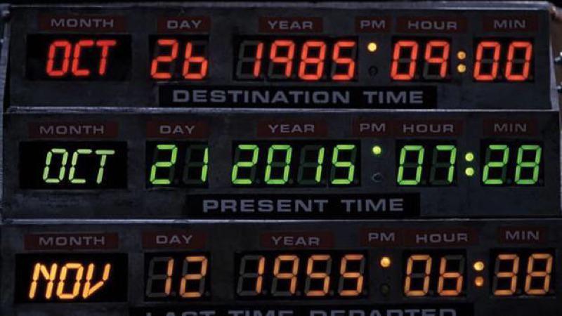 ついに明日デロリアンが過去からやってきます!が、日本時間では22日の朝8:29だそうです^_^;  #BTTF https://t.co/dNyRfPOeQn