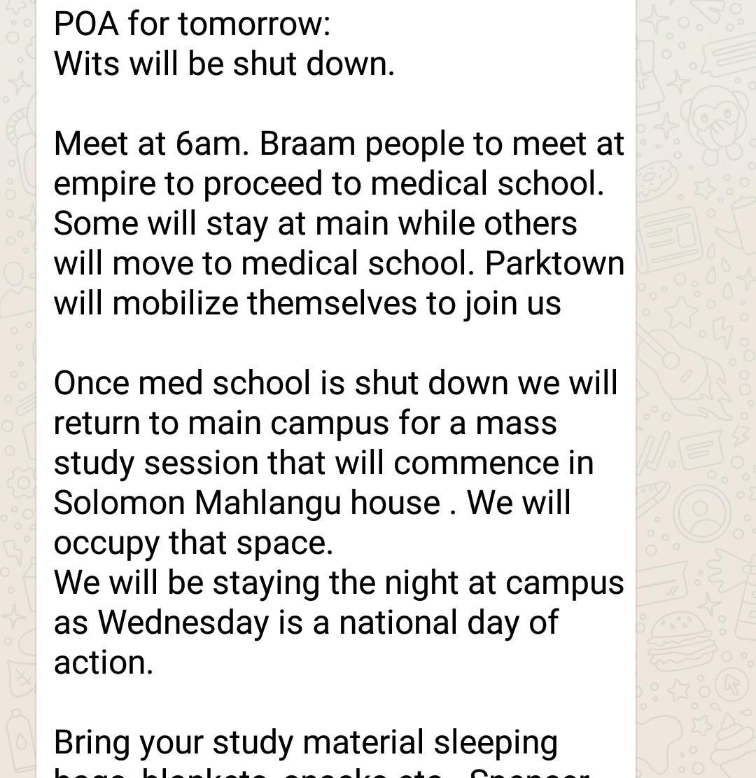 """We will march. Then we will study"" Tell me young South Africans are not focused. Pay attention, politicians. https://t.co/34evYwR7lu"