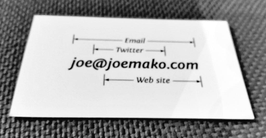 Best business card ever? @joemako #data15 https://t.co/pIFqH7rxqf