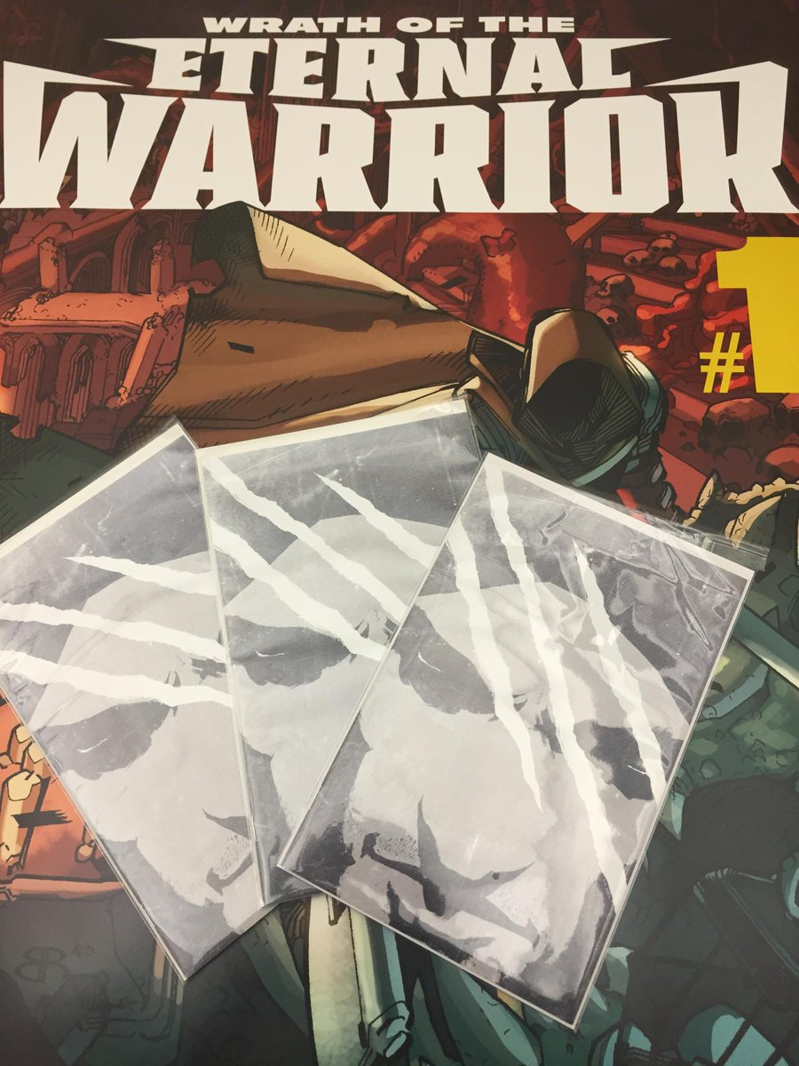 "CONTEST TIME! RT for a chance to win 1 of 3 ultra-rare Wrath of the Eternal Warrior #1 ""White"" books! Ends Friday! https://t.co/waQl3xL3BO"