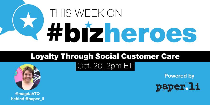 #BizHeroes Starts in 45 minutes. Always lively discussion! Join the fun. @paper_li https://t.co/Pk3ZD9lyhe