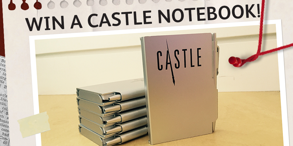 #Castle fan? RT & follow us before Wednesday 10pm to win 1 of 25 Castle notebooks! Ts&Cs: https://t.co/fdnIThZZYt https://t.co/7S8Wa55ZFp