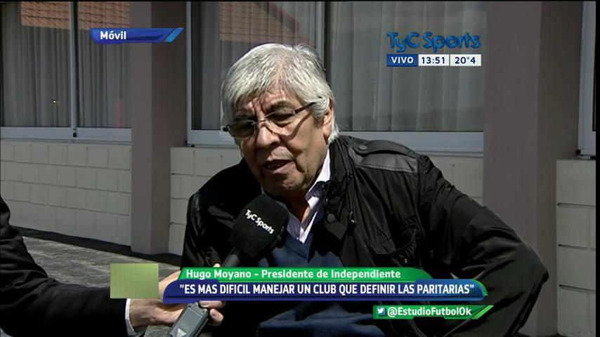 """Moyano: """"Es más difícil manejar un club que definir las paritarias"""""""
