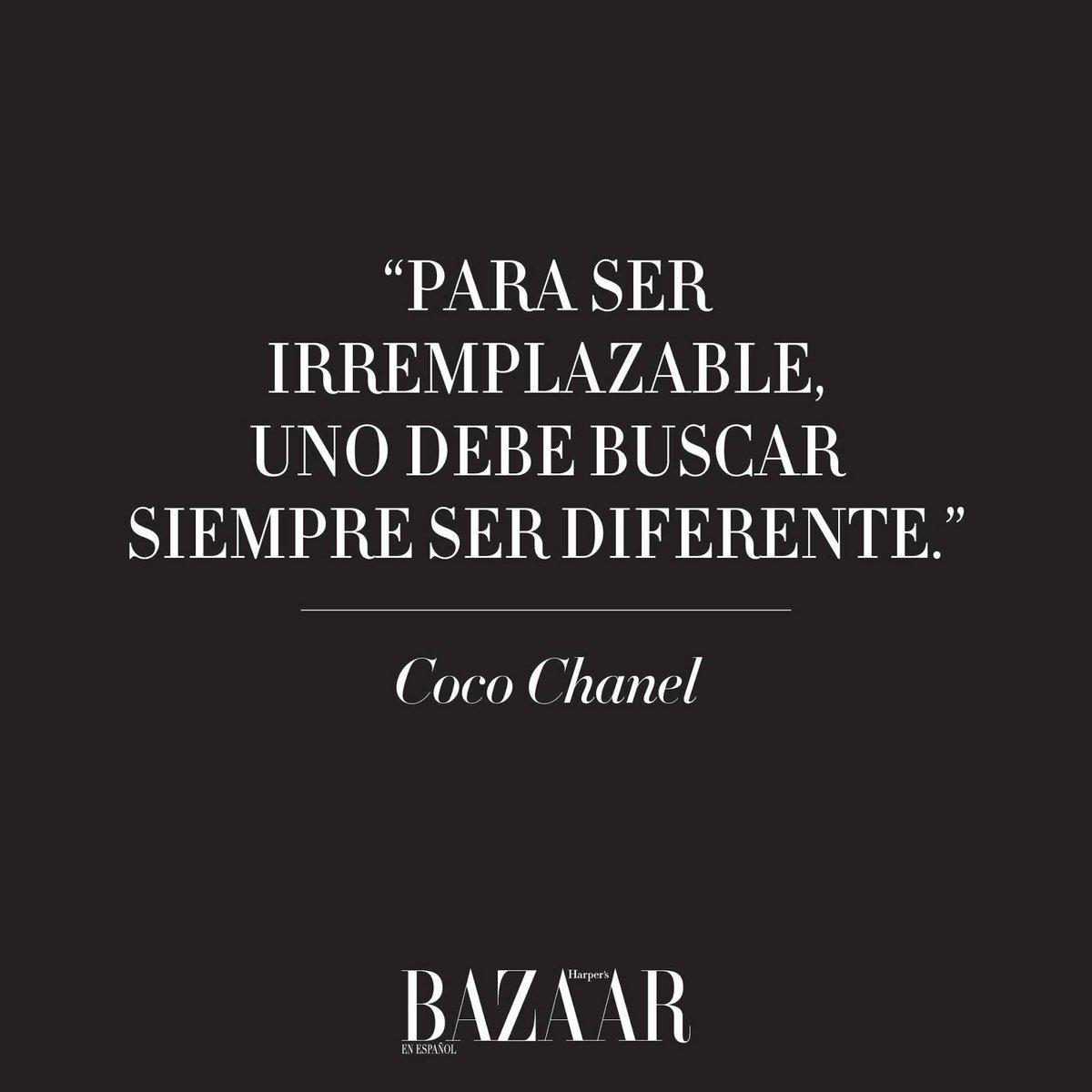 Harpers Bazaar Na Twitteri Las Frases De Coco Chanel Que