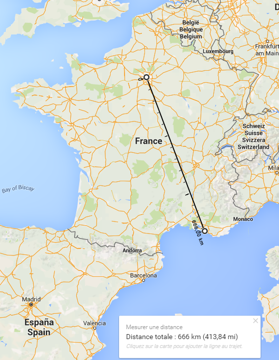 Armire On Twitter La Distance A Vol D Oiseau Entre Paris Et