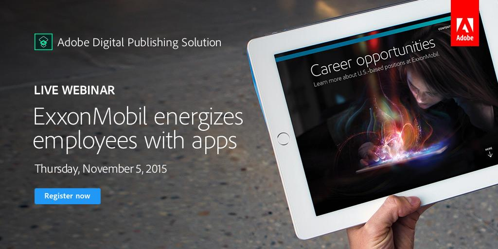 Exxonmobil uses mobile apps to power employees—you can too. Register to learn more Nov. 5: https://t.co/FGXxw7gNEc https://t.co/56tYJnrswM