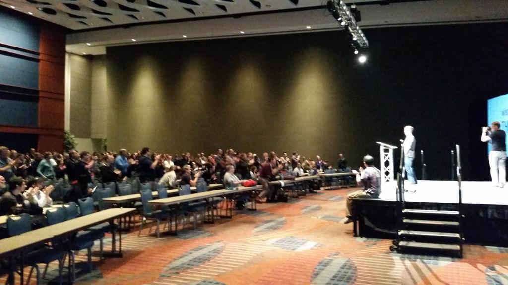 """""""@jhibbets: Standing O for @toddlew the heart and soul of @AllThingsOpen #ATO2015 @jimjag https://t.co/IhJbO2cx7b"""""""