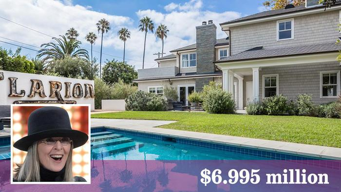 Actress Diane Keaton's latest blockbuster is for sale in Pacific Palisades.