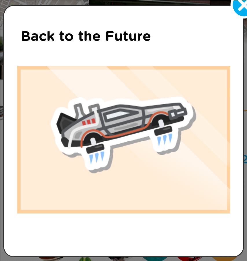 SwarmでチェックインしたらBack to the Futureステッカー獲得した! https://t.co/4G7hM4dTSs