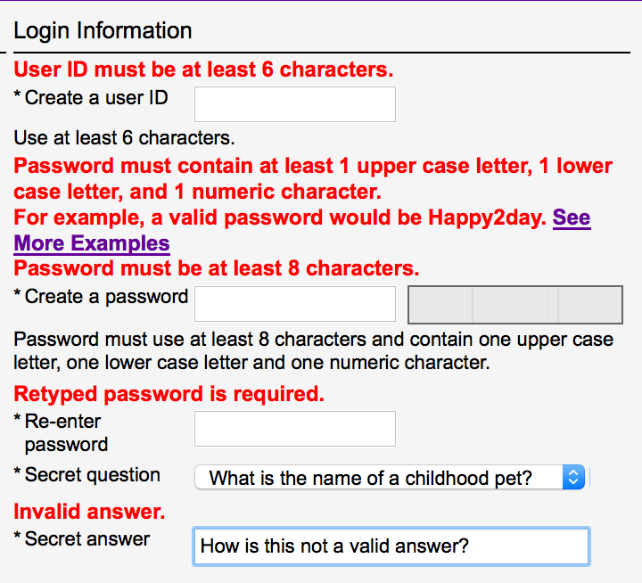 "Ryan Cirillo on Twitter: ""Fedex has bad password requirements and  restrictions on secret question answers - No special characters in either  https://t.co/hbBu6AwNn2"""