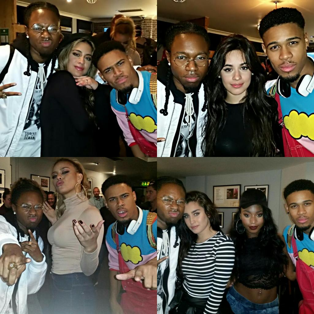 Last night with @FifthHarmony at their first SOLD OUT London gig! Wish you all the best girls x https://t.co/z7DrMzFpVZ