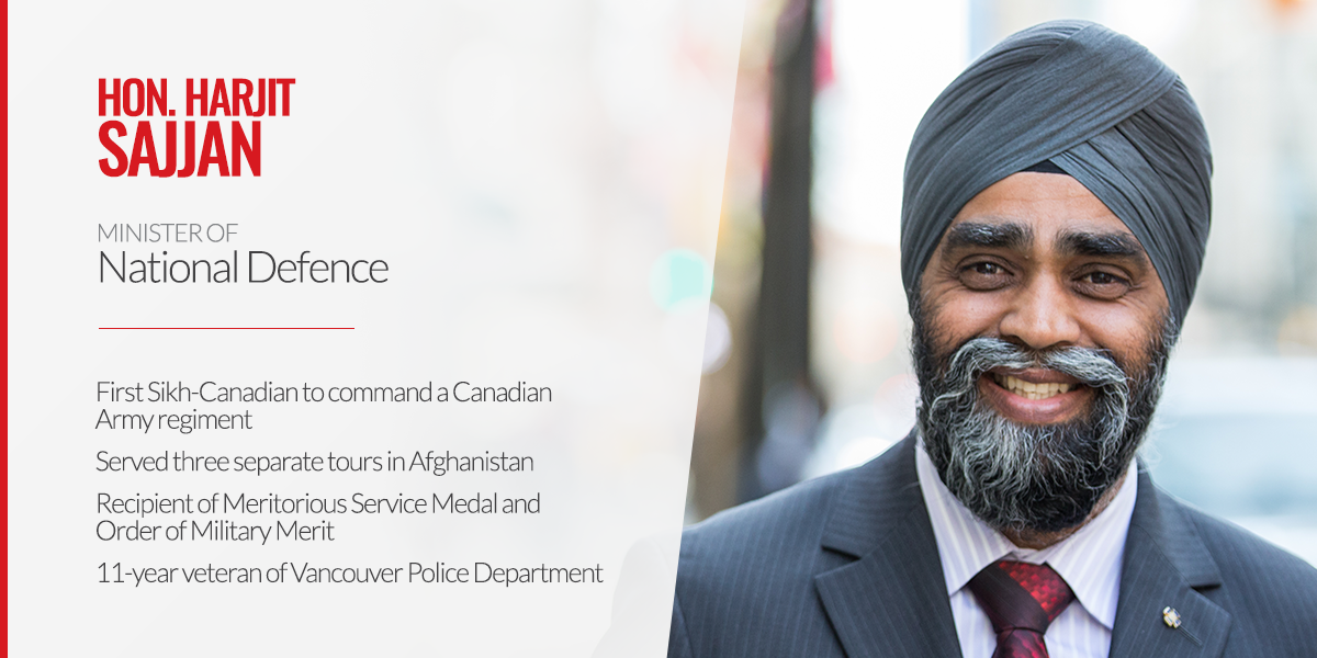 Please welcome Harjit Sajjan, Minister of National Defence. #pm23 https://t.co/cerfwySQVH