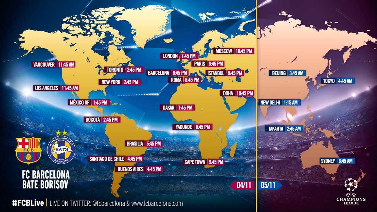 FC Barcelona on Twitter When and where to watch FC Barcelona v