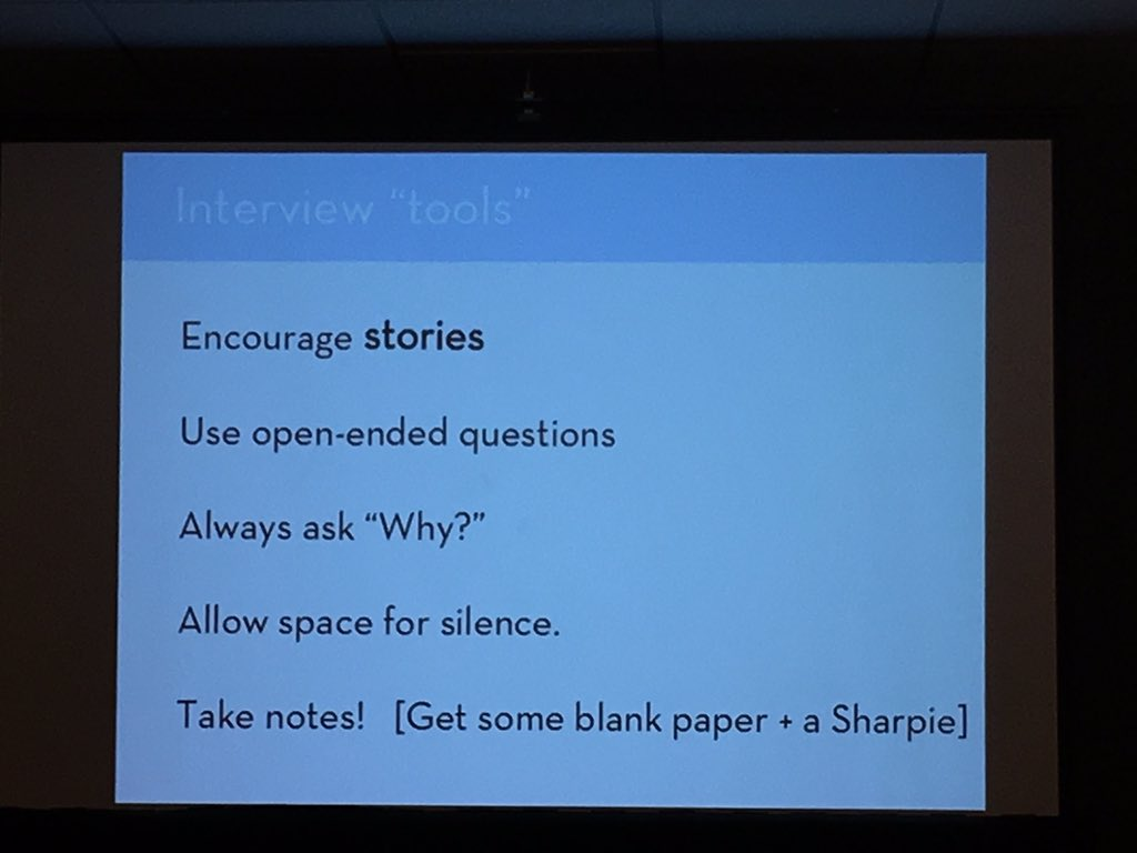 Good tips for interviewing, yes. Also good for #MuseumEd in general. #MCN2015 #designthinking https://t.co/B3bgkCwJYb
