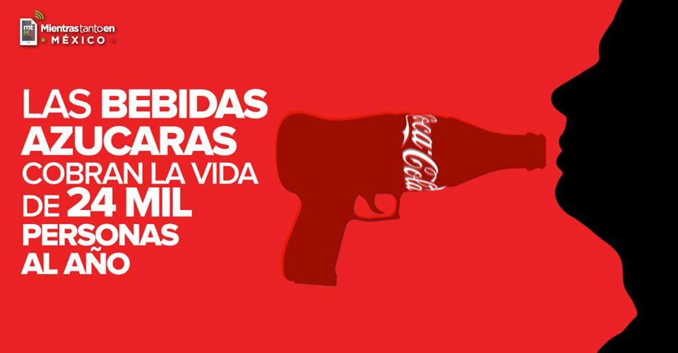 Las muertes relacionadas con el consumo de bebidas azucaradas aumentan en México: ONG http://bit.ly/1Nrxb9N