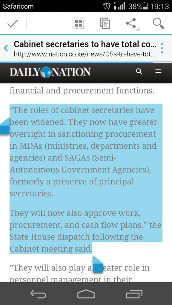 The internet doesn't forget... The President gave CSs sweeping powers including procurement last year #Waiguru https://t.co/nMrNa7Vjn2