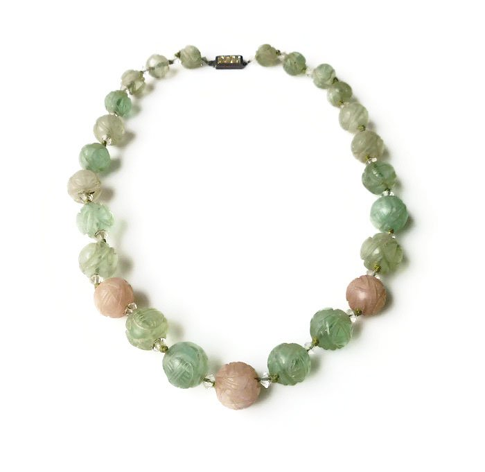 #Antique Chinese Green Pink Jadeite Jade Bead Sterling Silver Necklace https://t.co/tcZmIECfCO #gotvintage #teamlove https://t.co/VAfoWR1anj